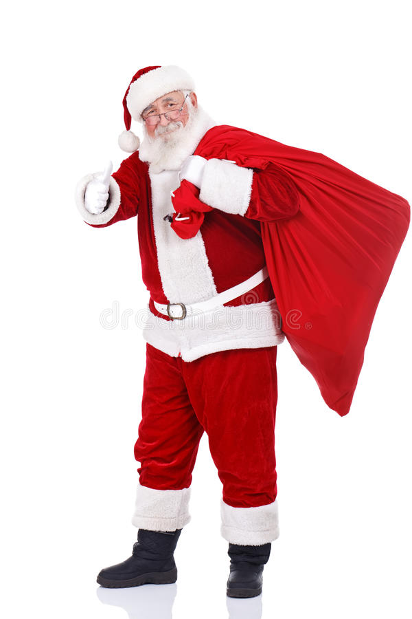 Santa Claus with big bag royalty free stock image