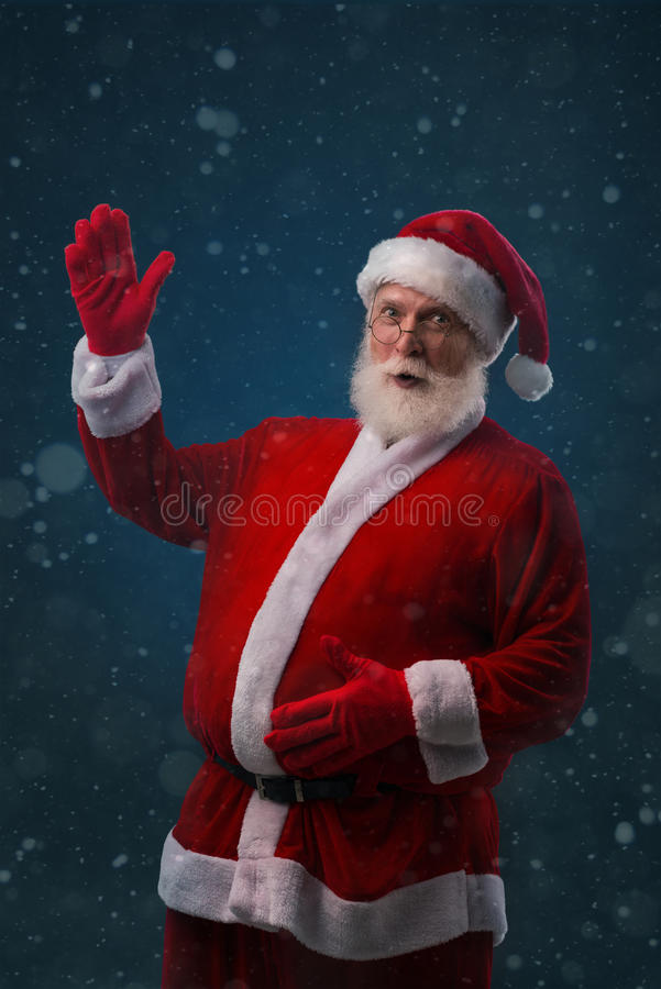 Santa Claus with big belly stock photography