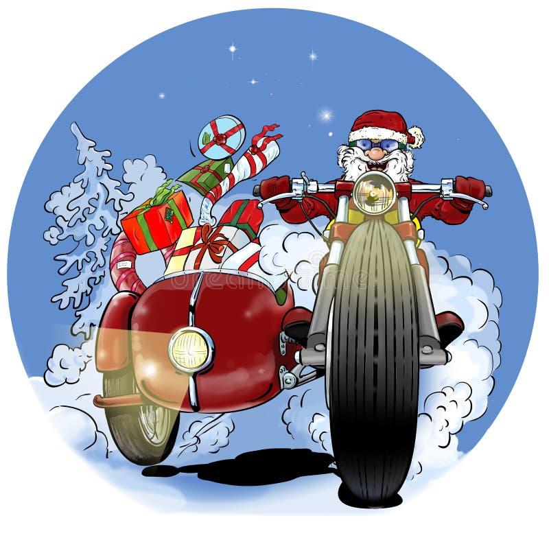 Santa Claus biker stock photos