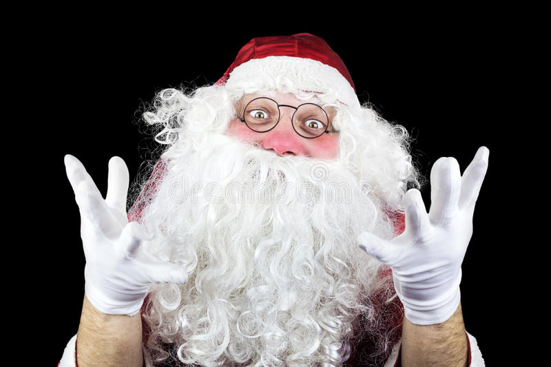 Santa Claus On Black Background immagine stock libera da diritti