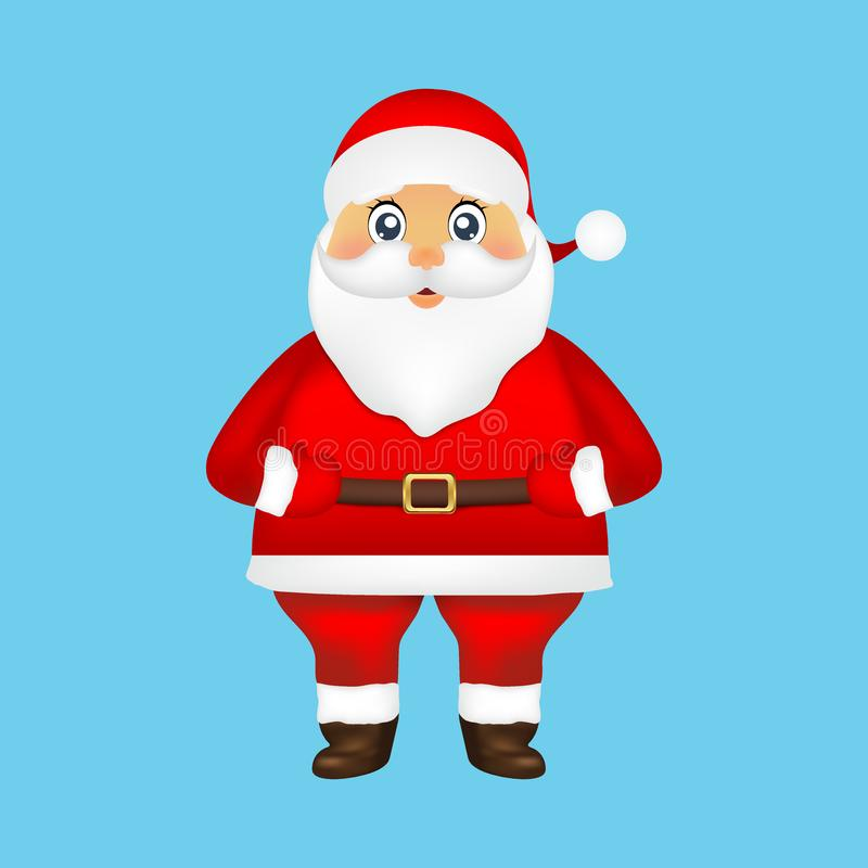 Santa Claus on blue background holiday illustration royalty free stock photography