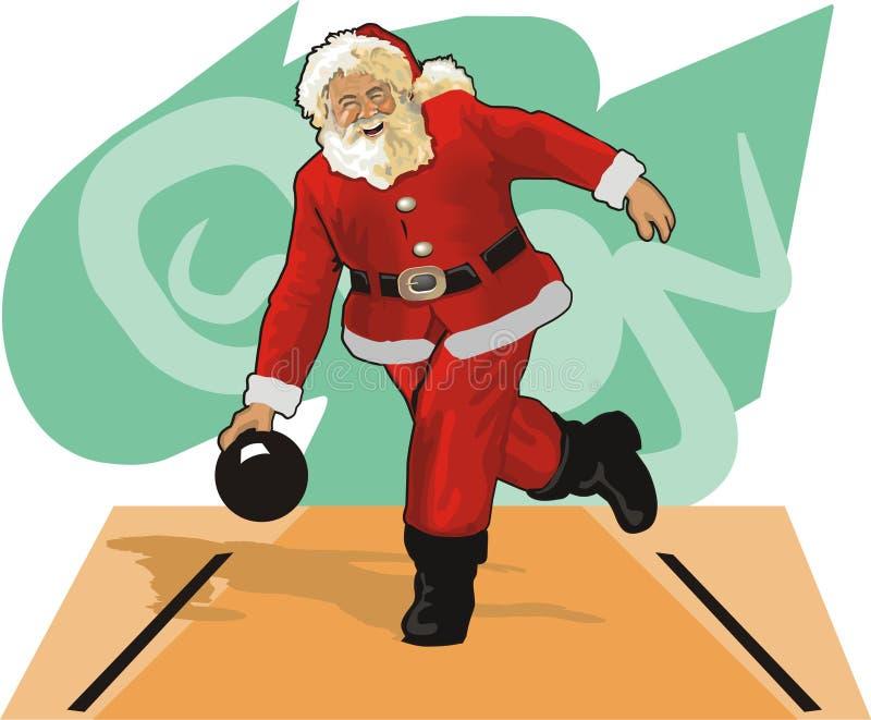 Santa Claus Bowling royalty free illustration