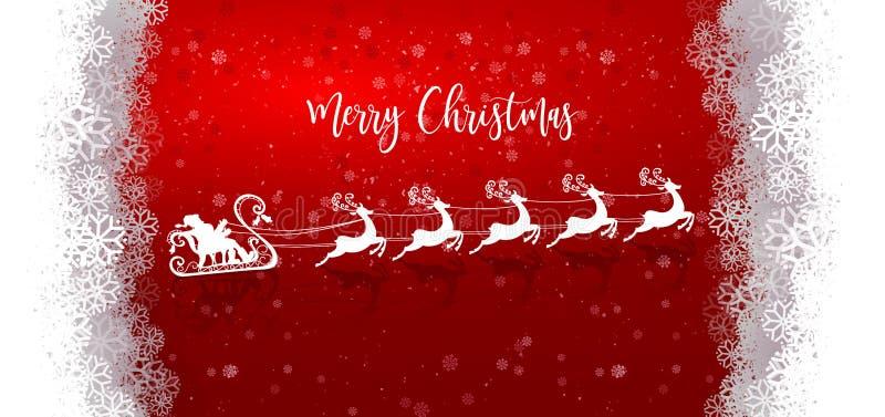 Santa Claus branca com renas ilustração stock