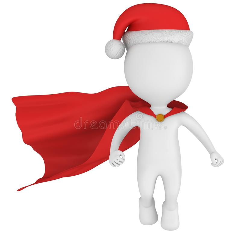 Santa Claus Brave Superhero Flying illustrazione vettoriale