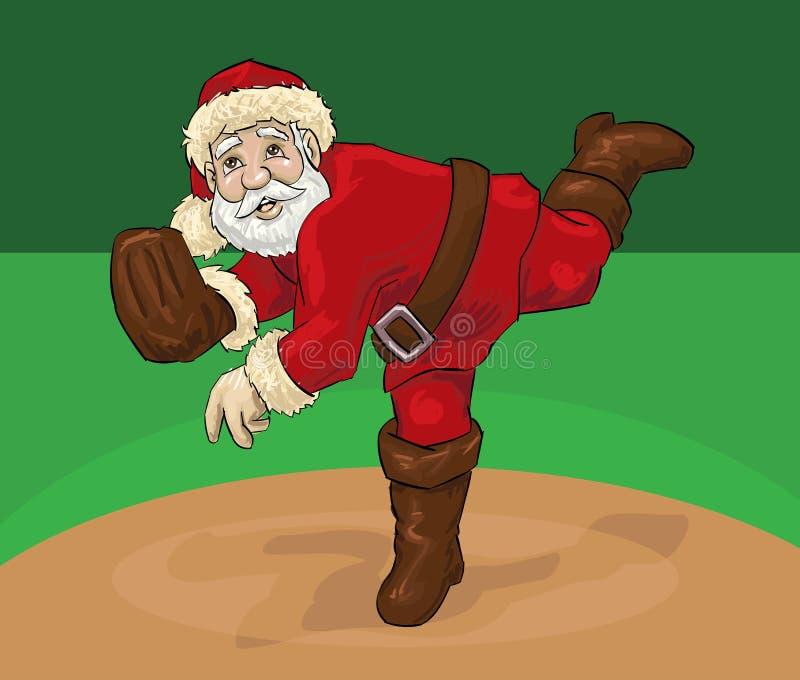 Santa Claus breddsteg vektor illustrationer