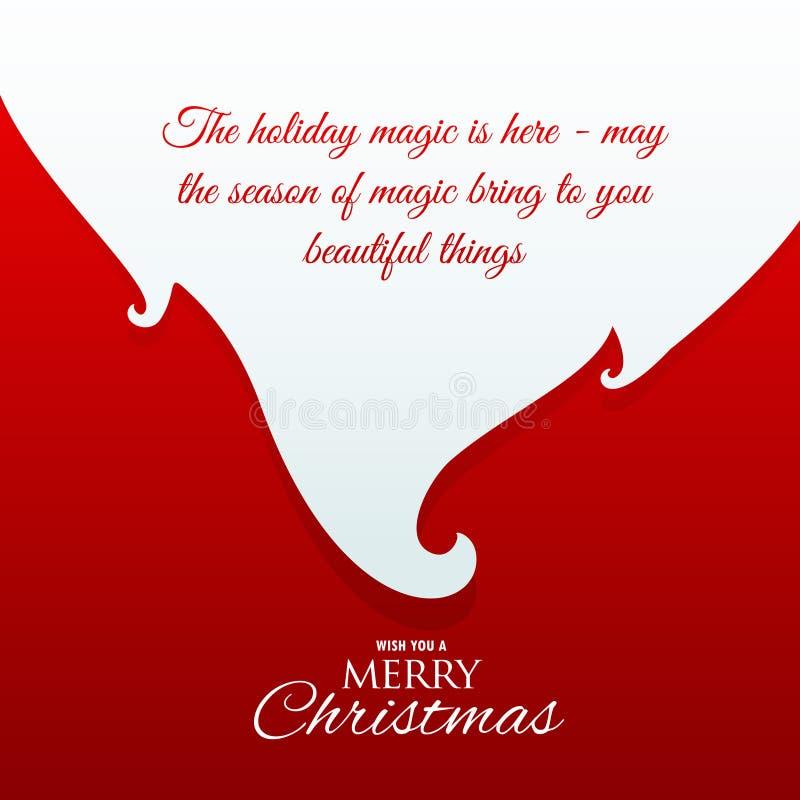 Santa Claus broda z wiadomością dla chrismas powitania ilustracji