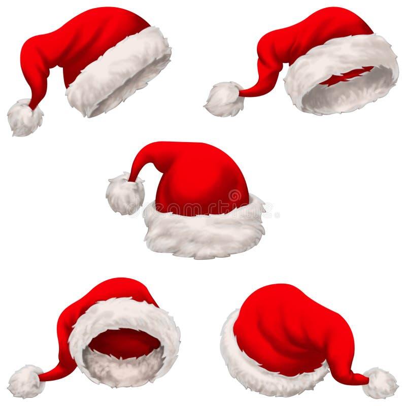 Santa Claus Caps ilustração royalty free