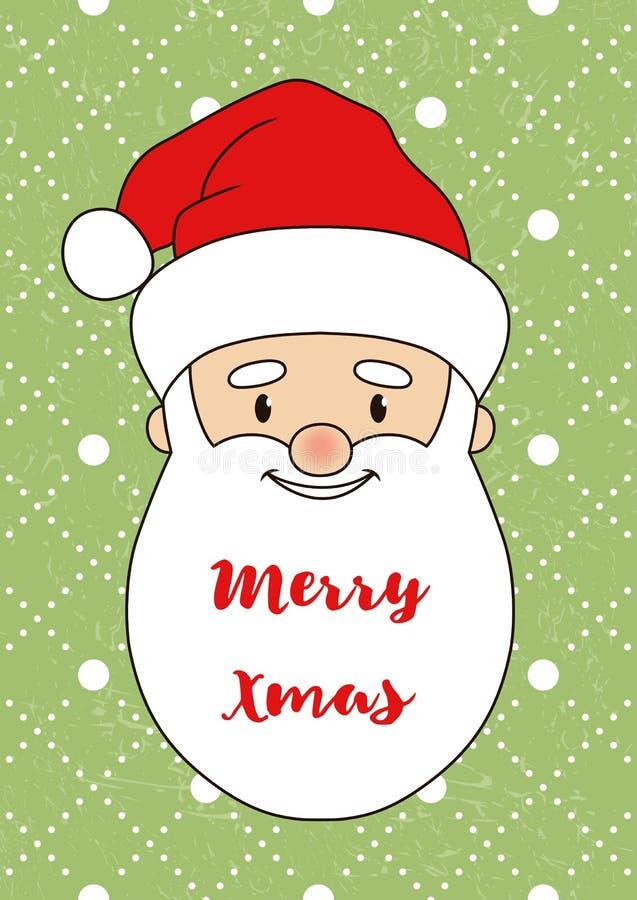 Santa Claus Card-02 stock illustration