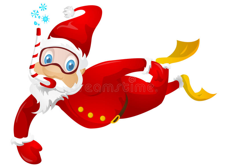 Download Santa Claus stock vector. Illustration of scuba, christmas - 32065540