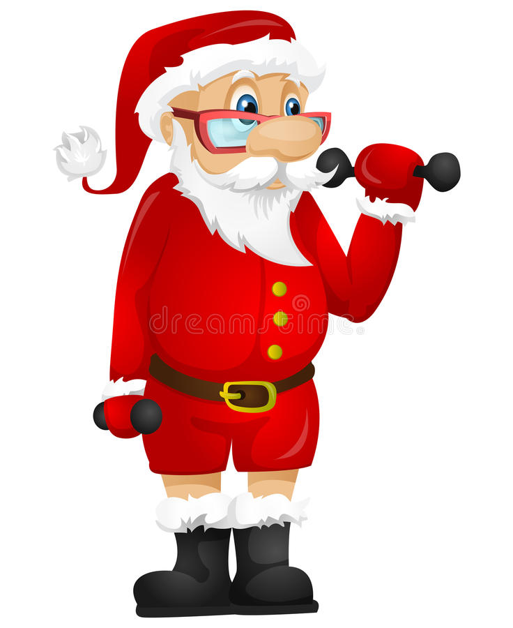 Download Santa Claus stock vector. Image of muscle, building, exercise - 32065201
