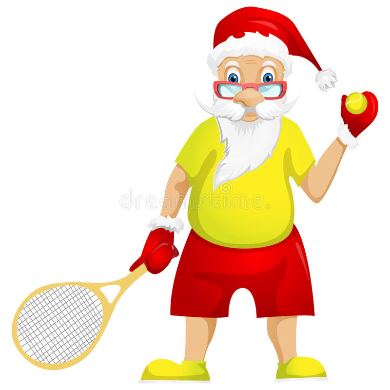 Download Santa Claus stock vector. Image of play, overweight, competitive - 32064462