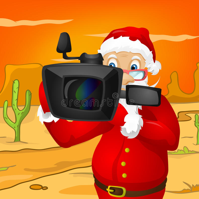 Santa Claus. Cartoon Character Santa Claus. Vector EPS 10 royalty free illustration