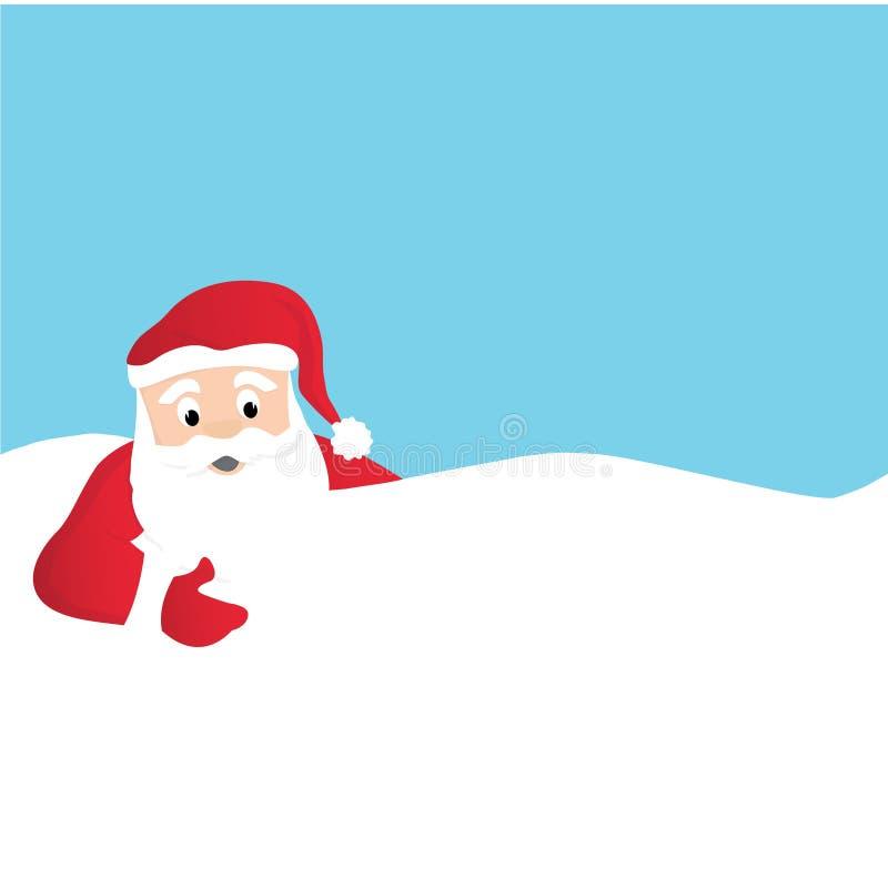 Santa Claus Cartoon Greeting Card royalty-vrije illustratie