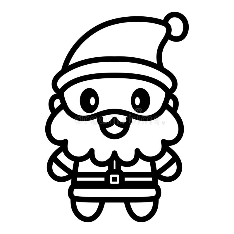 Santa Claus Cartoon Kawaii Stock Vector Illustration Of Isolated 197607495
