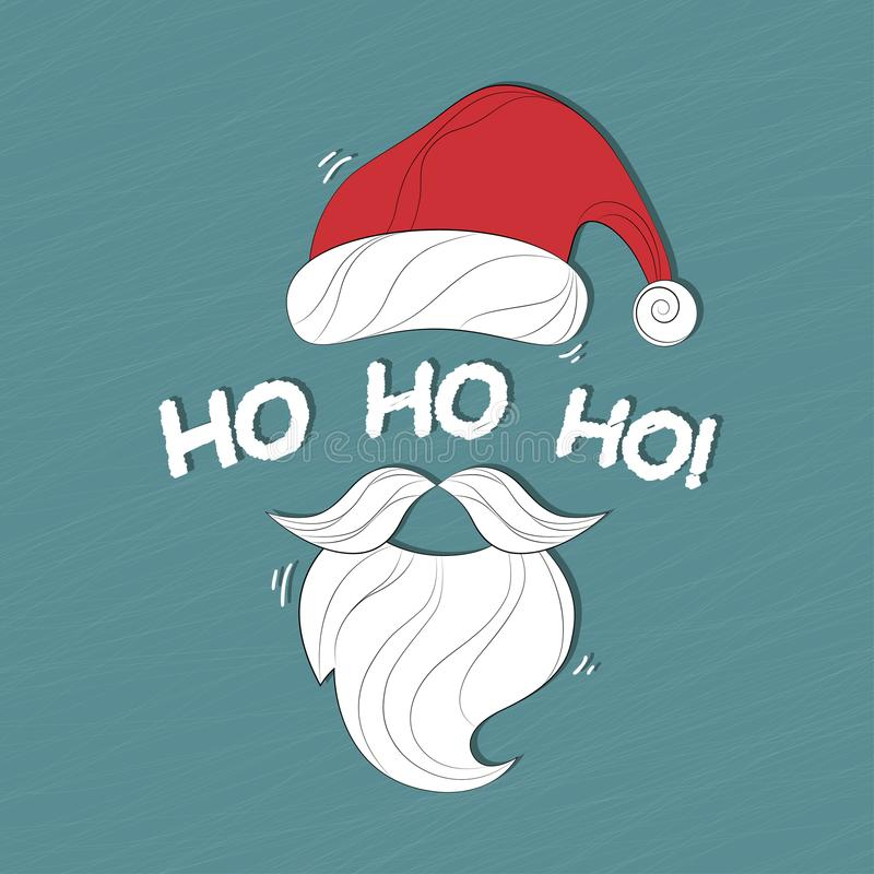 Santa Claus Cartoon.Sant Christmas background with Santa Claus. Merry Christmas and Happy New Year. Ho-Ho-Ho! Vector illustration. vector illustration