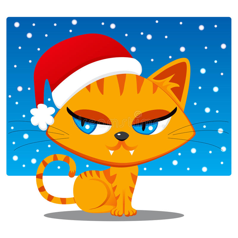 Download Santa Claus Cat stock vector. Image of claus, cartoon - 22088676