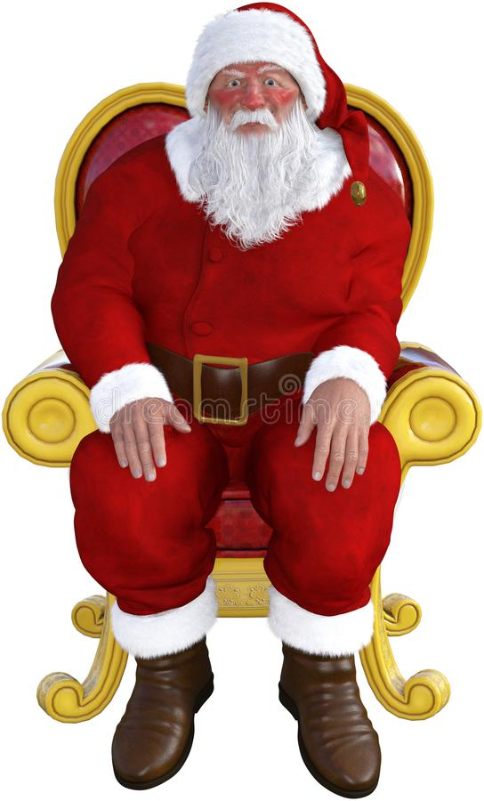 Free Santa Claus, Chair Sitting, Isolated Stock Image - 107195281