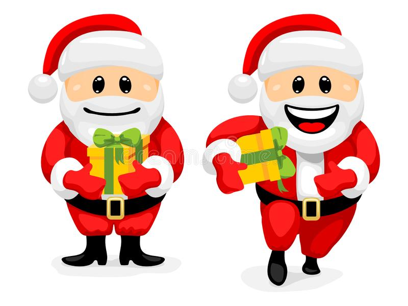 Santa Claus Character Set stock de ilustración