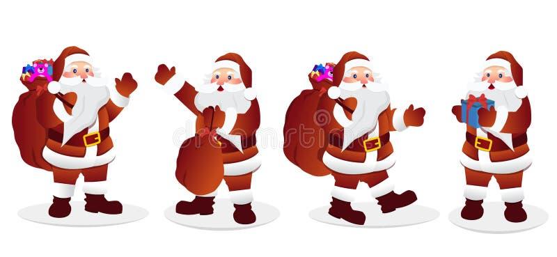 Santa Claus Character Set illustation del vector stock de ilustración