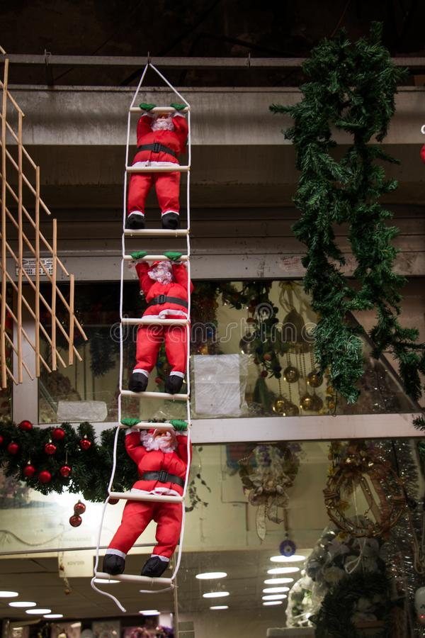 Santa Claus charaktery z r??nymi emocjami fotografia stock