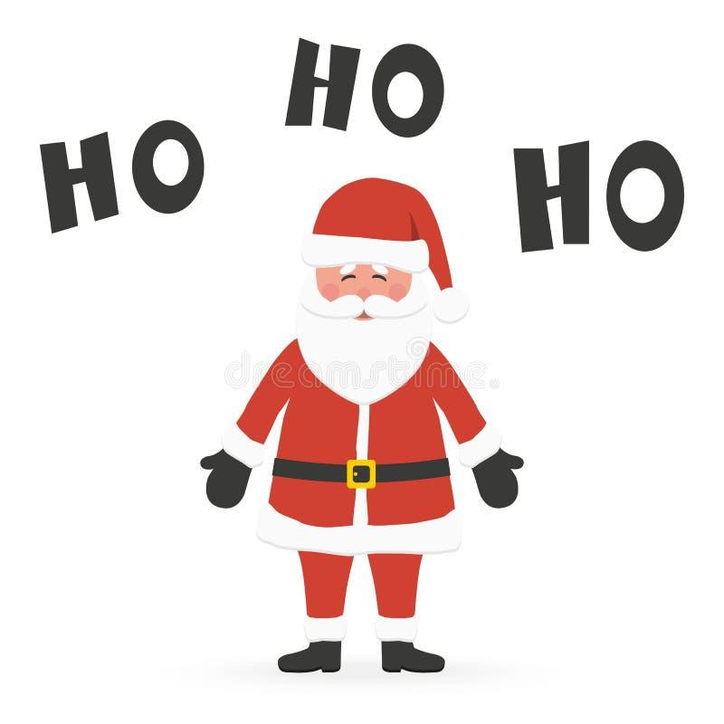 Santa Claus che dice Ho Ho Ho royalty illustrazione gratis