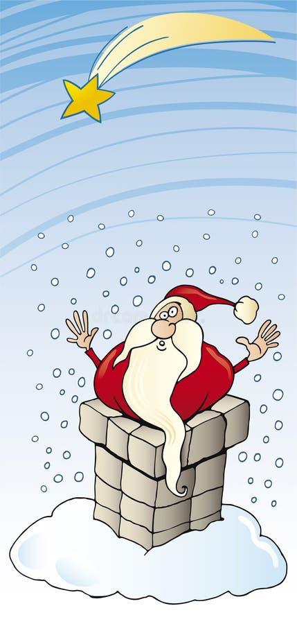 Download Santa Claus In Chimney Christmas Card Stock Vector - Image: 11245307
