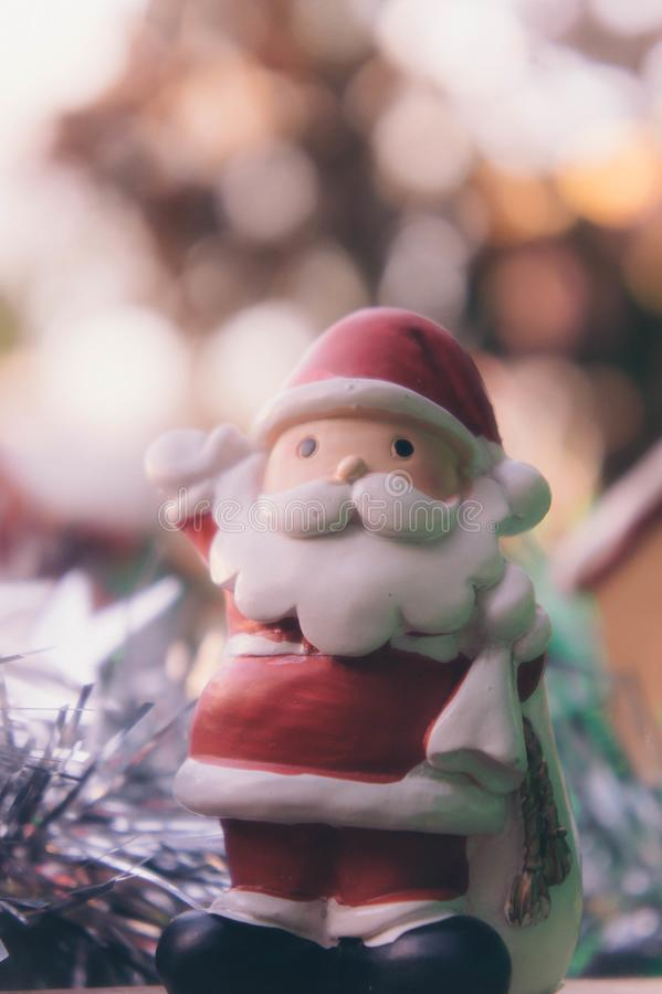 Santa claus and chirstmas background royalty free stock photography