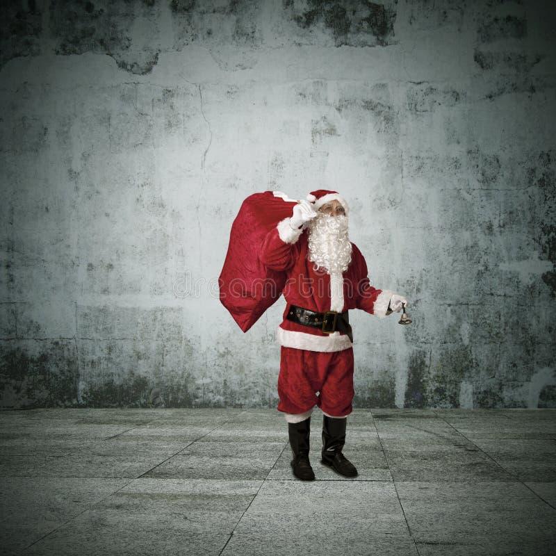 Santa claus, christmas. Santa claus in attitude and expressions royalty free stock photography