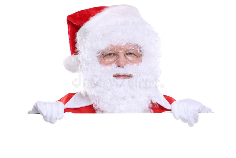 Santa Claus Christmas banner copyspace copy space stock photo