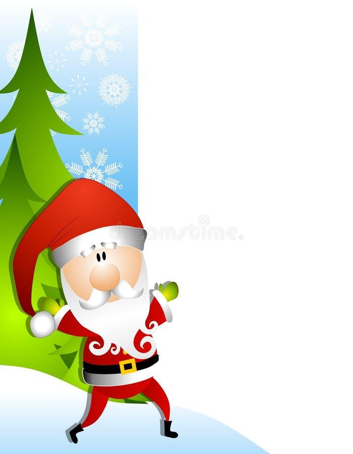 Santa Claus Christmas Border stock illustration