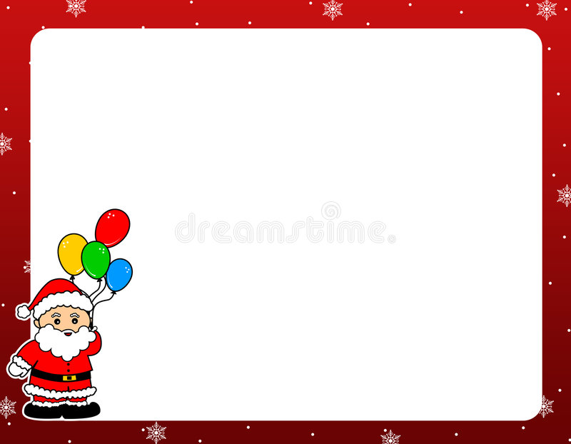 Santa Claus christmas border
