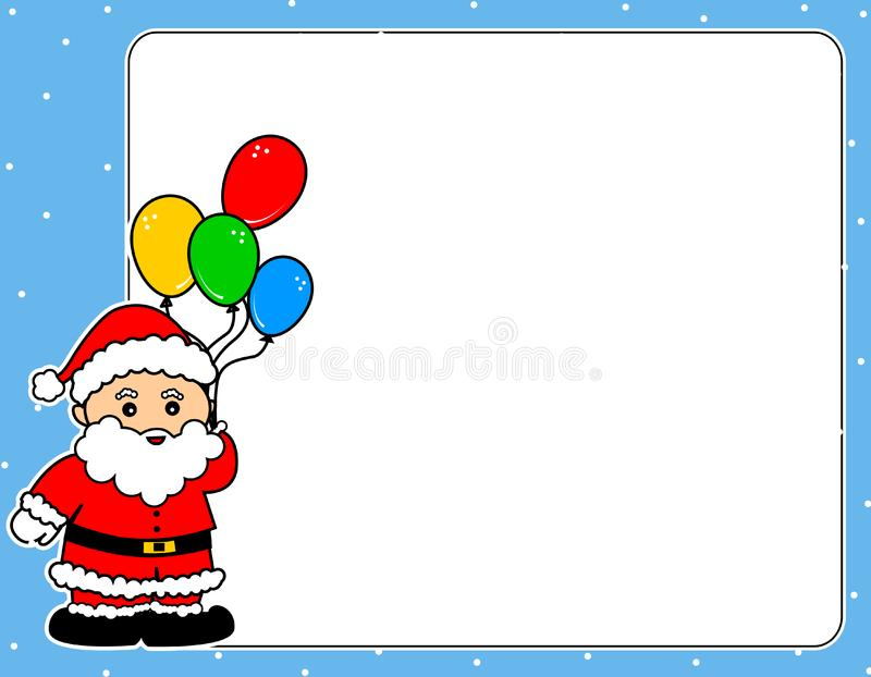 Santa Claus christmas border stock photo