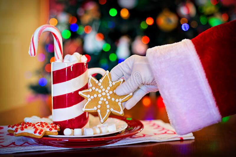 Santa Claus With Christmas Candy Free Public Domain Cc0 Image
