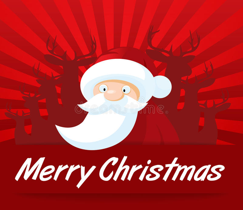 Santa Claus Christmas Card stock illustratie
