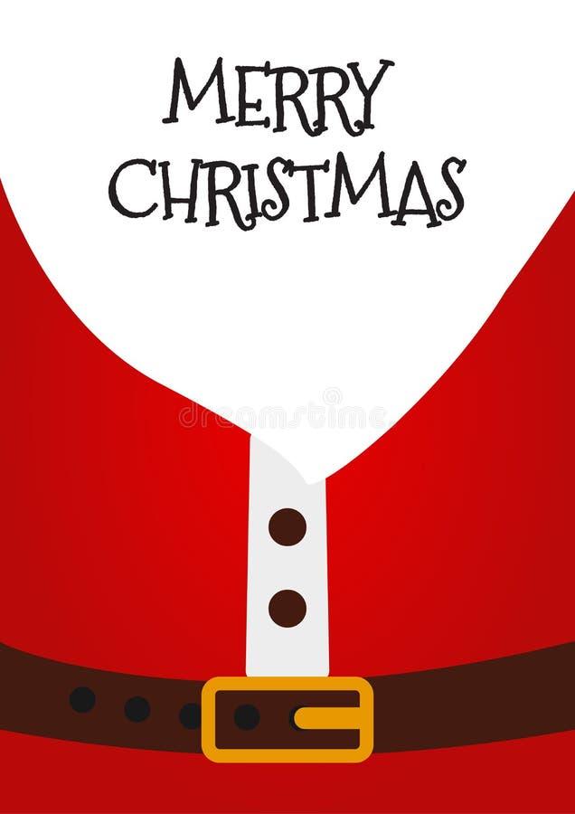 Santa Claus Christmas Card, cartel, bandera con Feliz Navidad del texto de Eemovable Ilustración del vector libre illustration