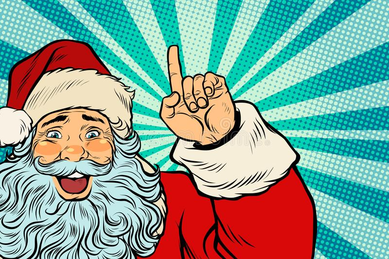 Santa Claus Christmas-Charakter zeigt sich vektor abbildung