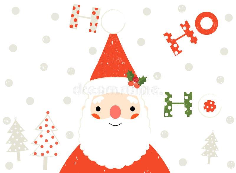 Santa Claus Christmas Greeting Card ilustración del vector