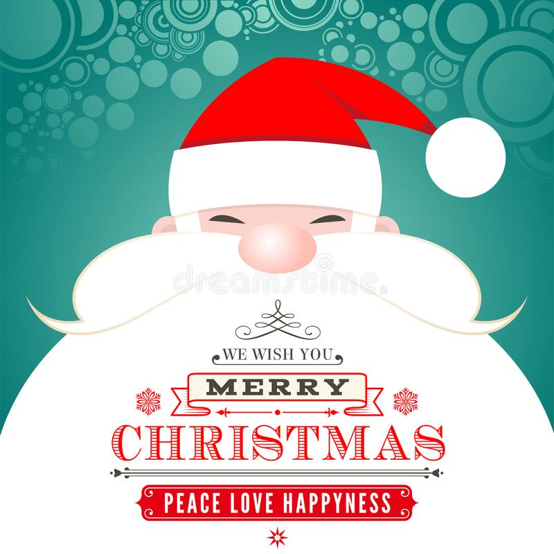 Santa Claus Christmas Greeting Card stock illustratie