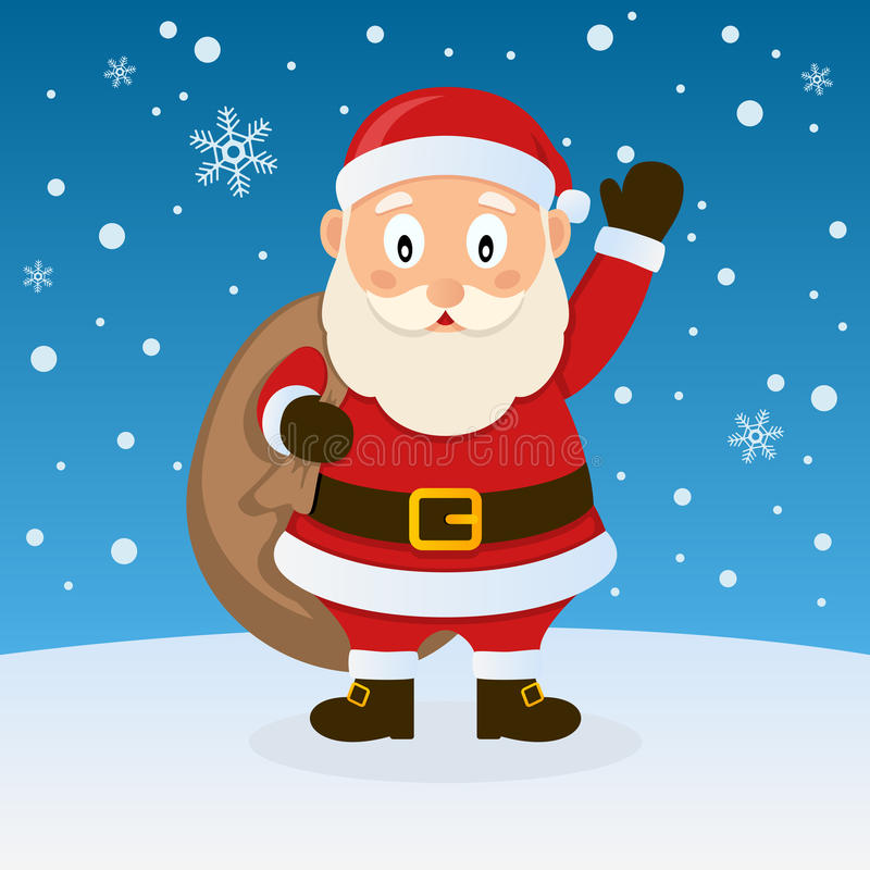 Download Santa Claus Christmas On The Snow Stock Vector - Image: 35098699