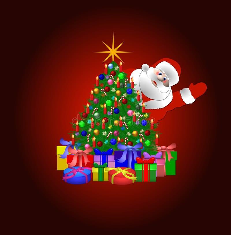 Download Santa Claus And Christmas Tree Stock Illustration - Image: 8766872