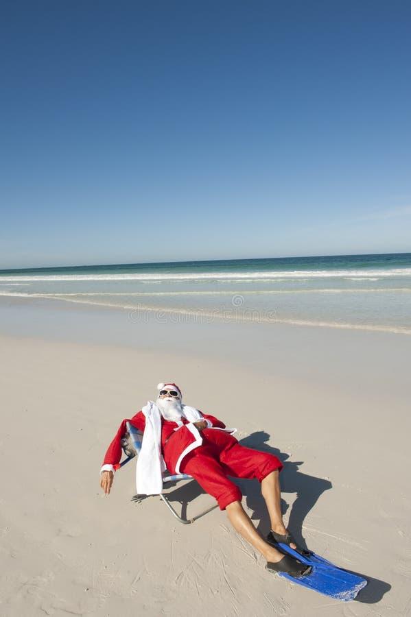 Santa Claus Christmas Tropical Beach