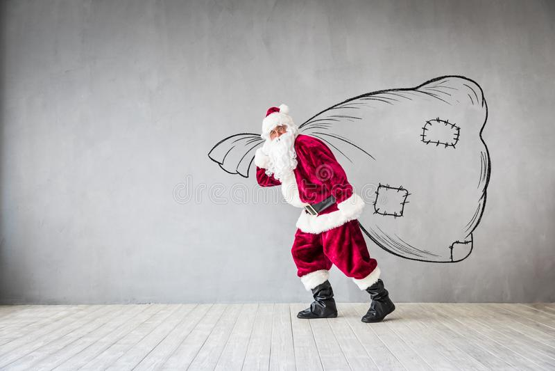 Santa Claus Christmas Xmas Holiday Concept imagem de stock