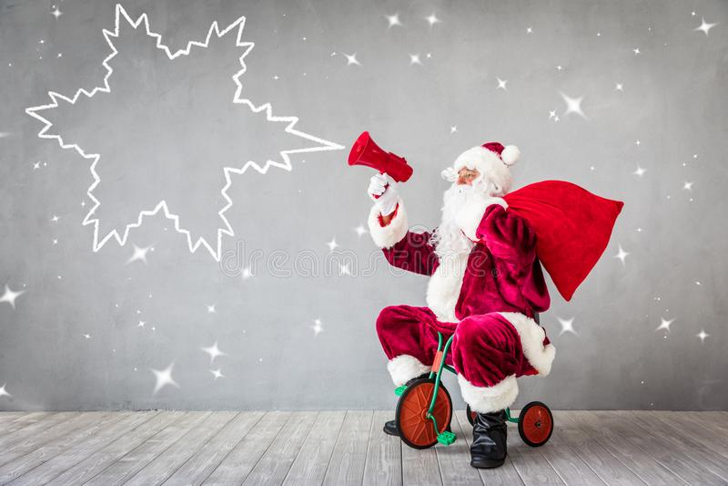 Santa Claus Christmas Xmas Holiday Concept imagem de stock royalty free