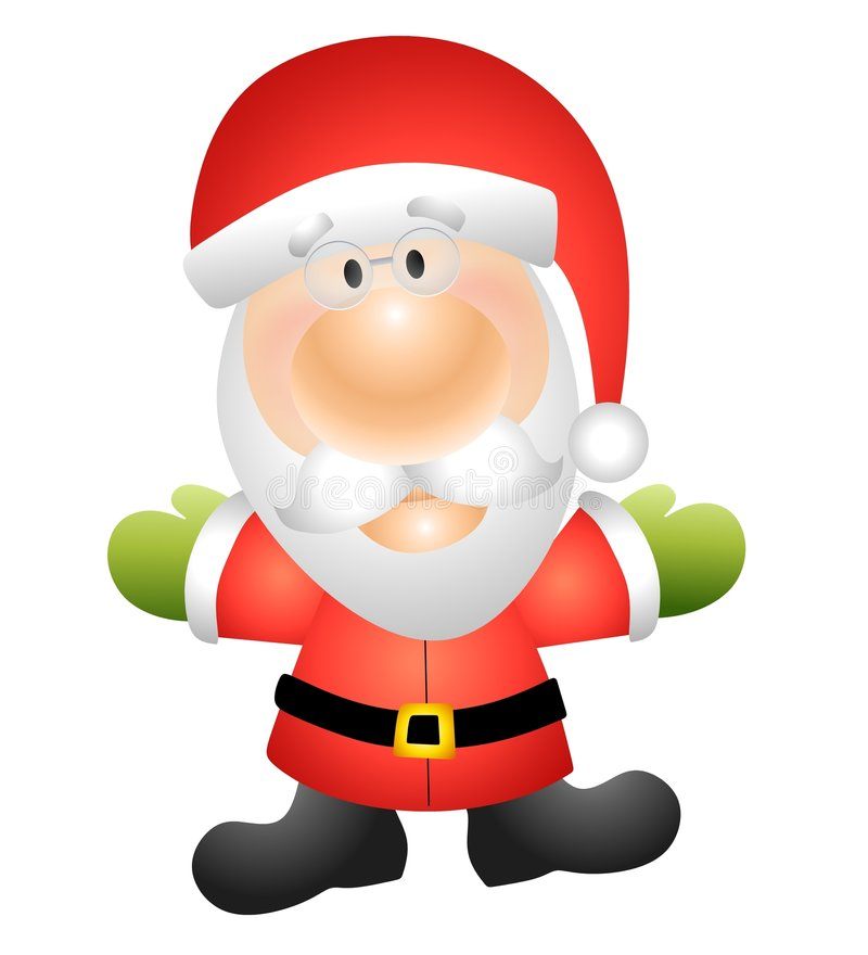 Santa Claus Clip Art. An illustration featuring Santa Claus in his red suit isolated on white royalty free illustration