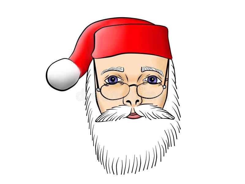 Santa Claus Close omhoog royalty-vrije illustratie