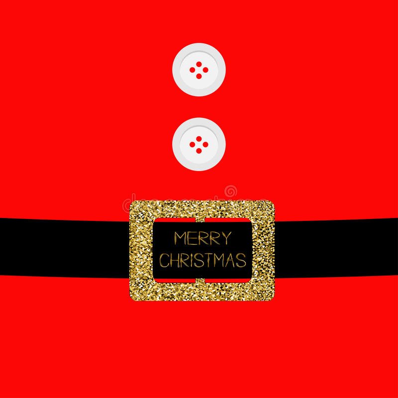 Santa Claus Coat With Fur, Buttons And Golden Glitter Belt ...