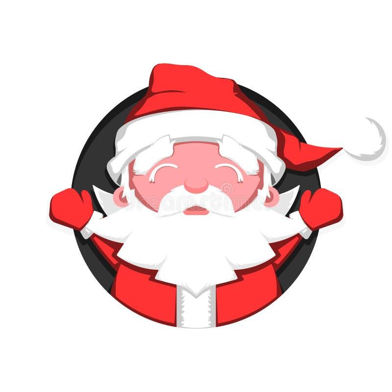 Santa Claus com braços abertos ilustração royalty free