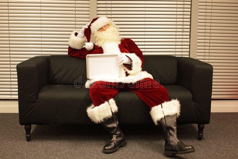 Santa Claus com falta da motivação fotografia de stock royalty free