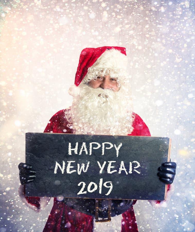 Santa Claus com quadro imagens de stock royalty free
