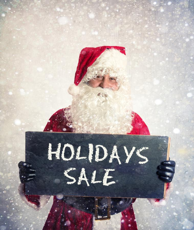 Santa Claus com quadro imagem de stock royalty free